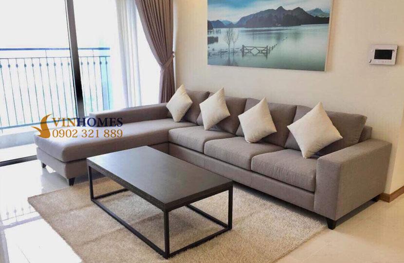 thuê căn hộ 4 phòng ngủ Landmark 1 tầng 15 nội thất đẹp | bộ sofa