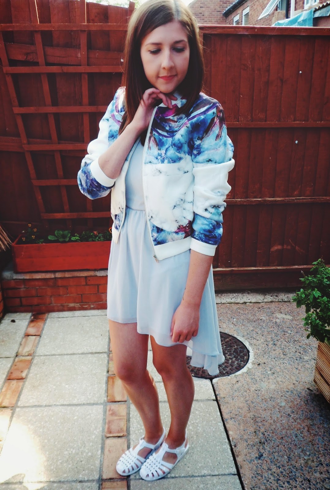 ASOS, asseenonme, bomberjacket, fblogger, fbloggers, jellyshoes, missguided, dress, newlook, ootd, outfitoftheday, summer, whatibought, whatimwearing, wiw