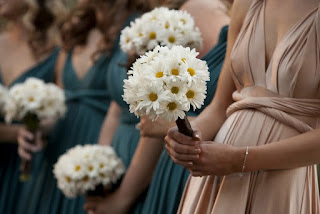White Daisy Bridesmaid Flower Bouquets