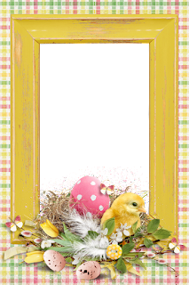 Retro Easter: Free Printable Frames, Cards or Invitations.