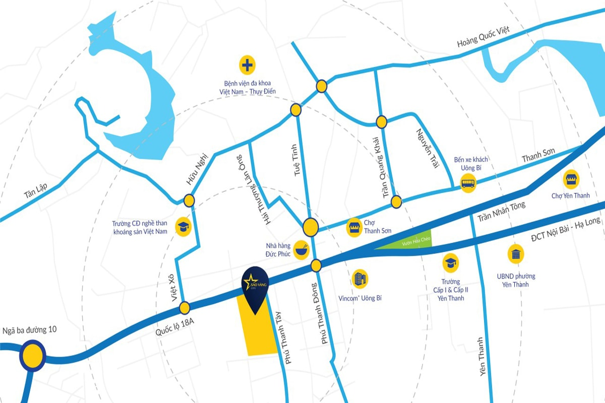 Vị trí dự án Sao Vàng City