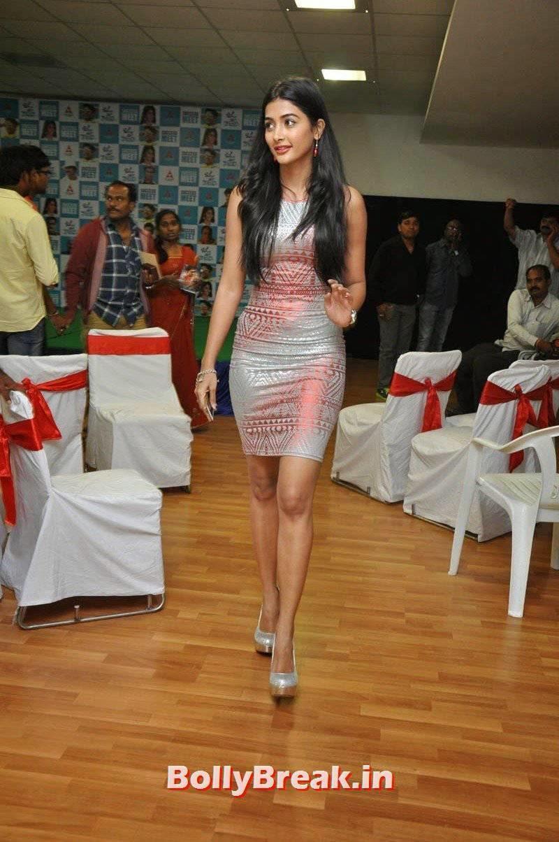 , Pooja Hegde Without Sleeve Dress hot Photos, Pooja Hegde Nude Pumps Images