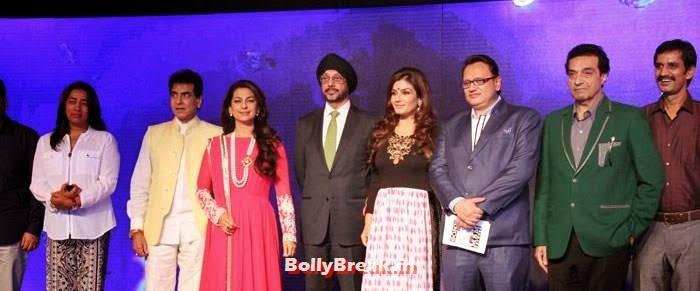 Jeetendra, Juhi Chawla, N P Singh, Raveena Tandon, Dheeraj Kumar, Raveena, Juhi, ragini at Sony Pal Launch - Hot Pics