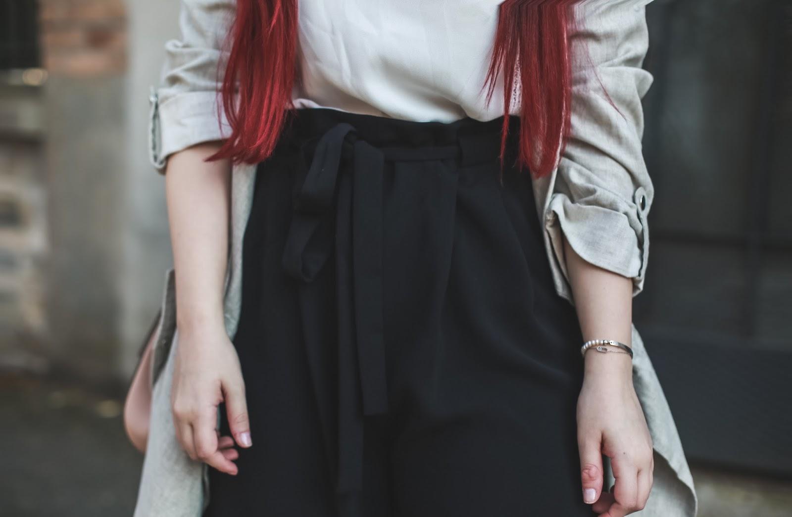 pantalon court taille haute blog mode