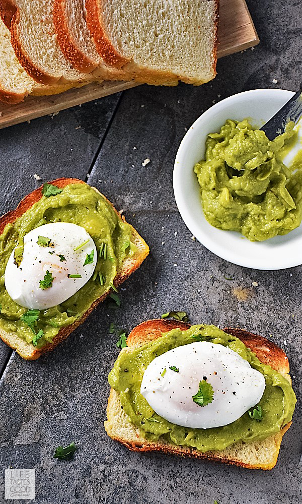 Poached Egg on Toast | by Life Tastes Good is a healthy breakfast full of protein to keep you going all morning long! Oh, and it just so happens to be easy to make and delicious too! Learn how to make perfectly poached eggs. You'll be surprised at how easy it is! #LTGrecipes