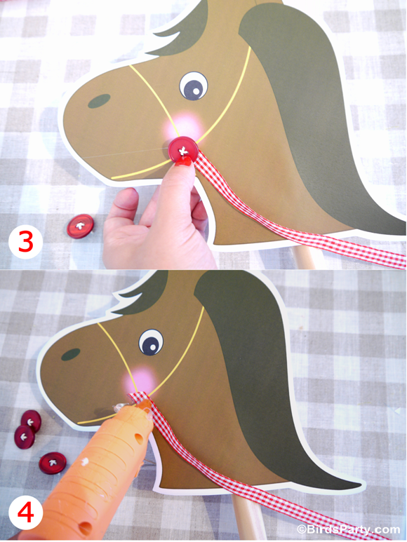 DIY Toy Horse Barnyard Birthday Photo Booth Props - BirdsParty.com