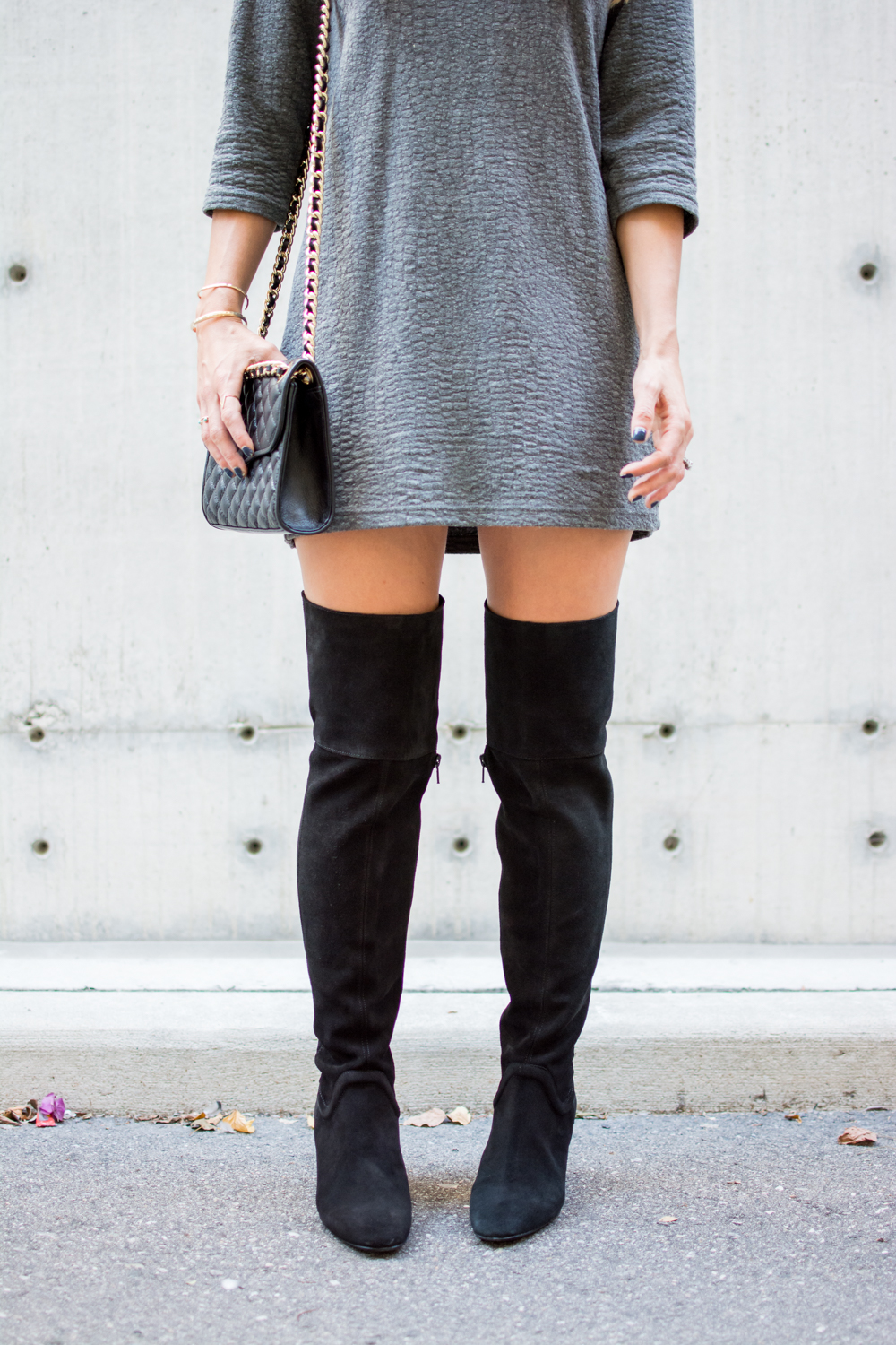 zara over the knee boots rebecca minkoff mini quilted affair
