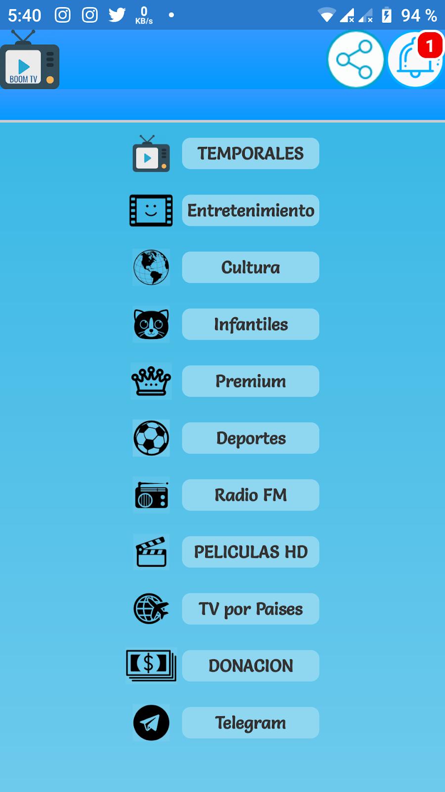 BOOM TV / Android / TV / Películas en HD