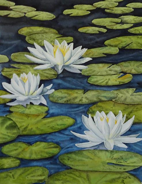 Danielle beaulieu watercolour lily pads