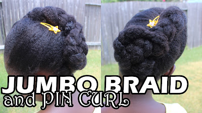 Jumbo Braid with Pin Curl on Natural Hair | Back to School DiscoveringNatural