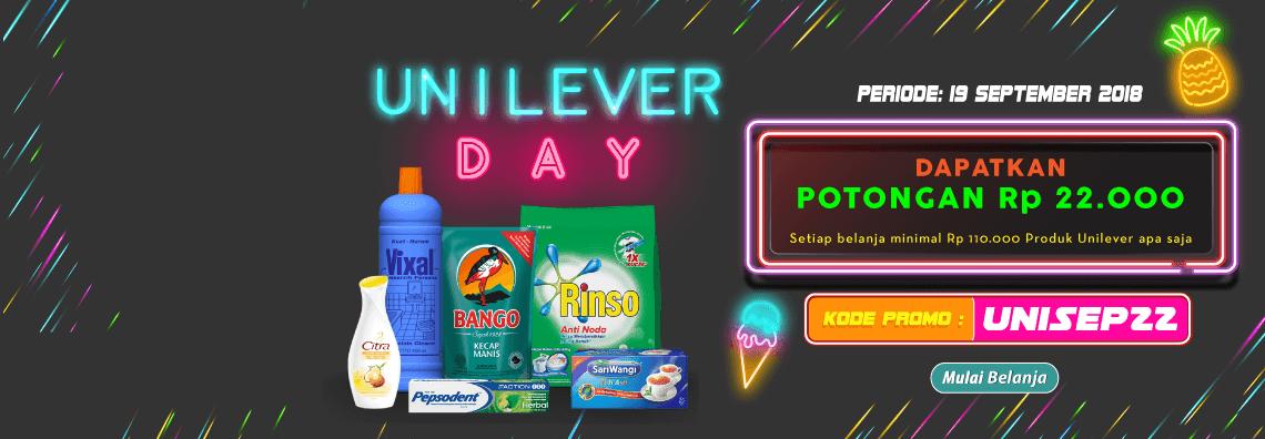 Alfamart - Voucher Promo Unilever Day Potongan 22 Ribu (HARI INI SAJA)
