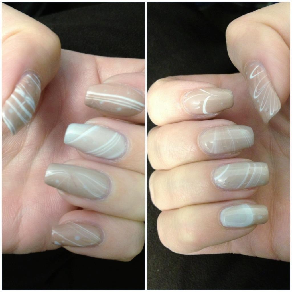 Shellac Water Marble Neutral Colors Shellacnailart Com