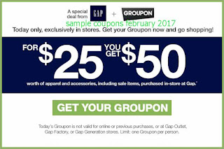 Gap coupons for february 2017