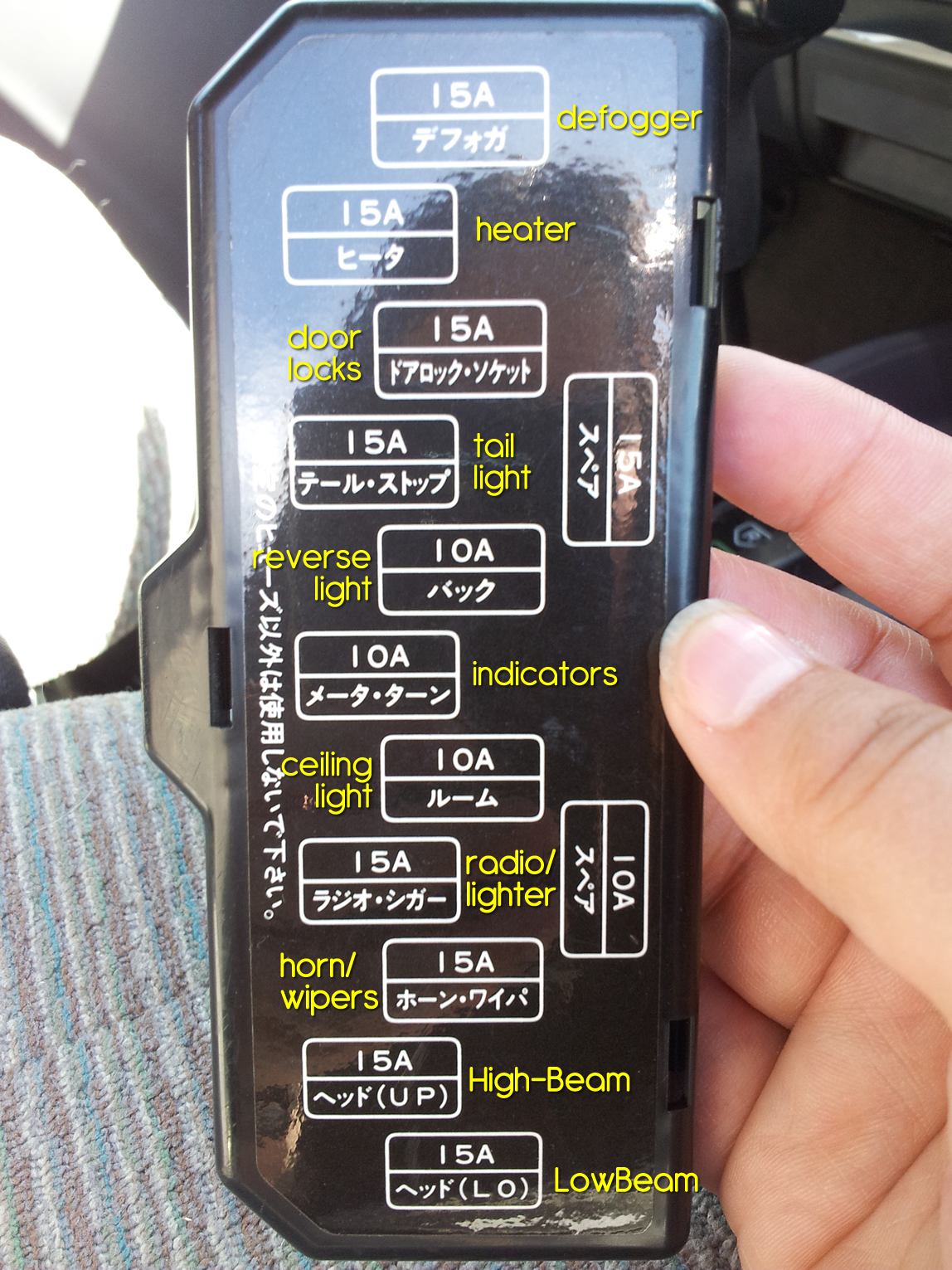 Just just in case anyone else out there needs it - here is the fuse diagram  for a 1996 Mitsubishi Pajero Jnr: