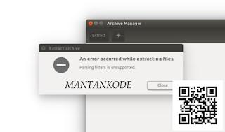 Cara Fix masalah tidak dapat Extract file rar zip di Ubuntu 16.04