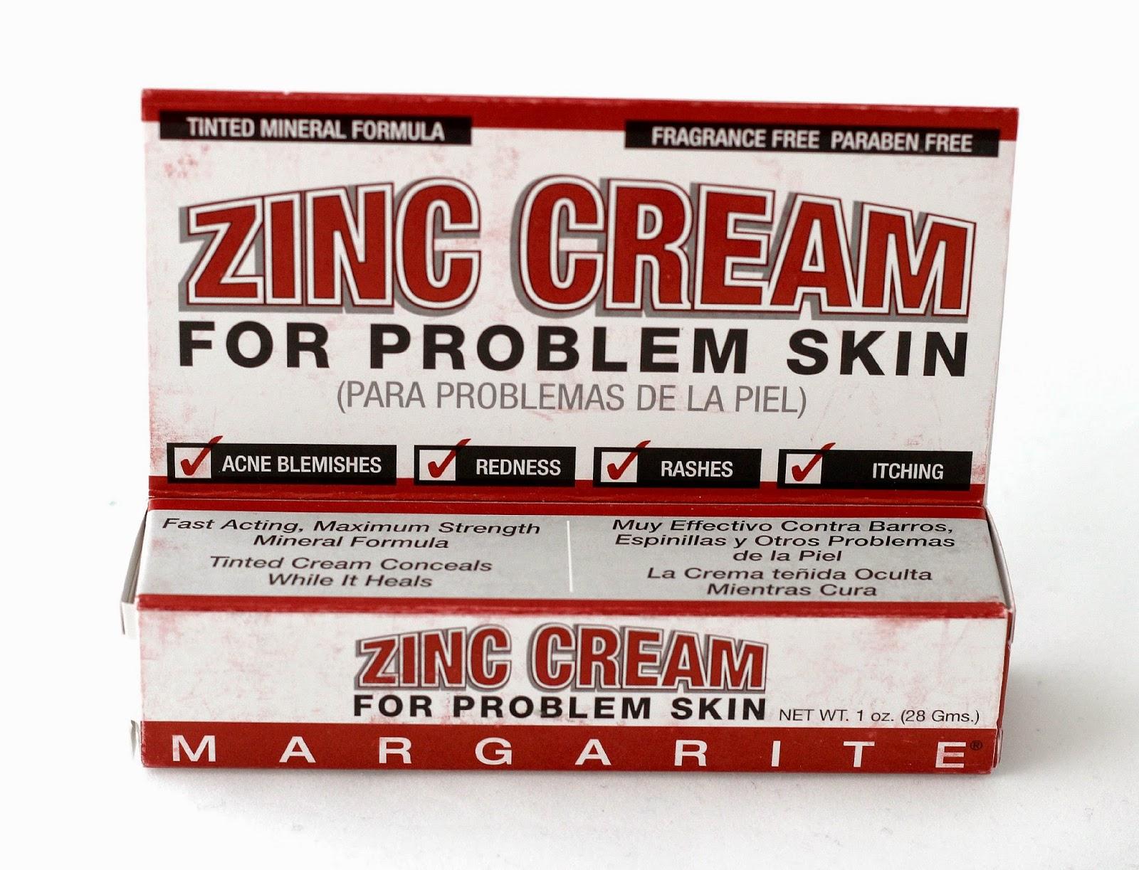 Zinc cream for problem skin review