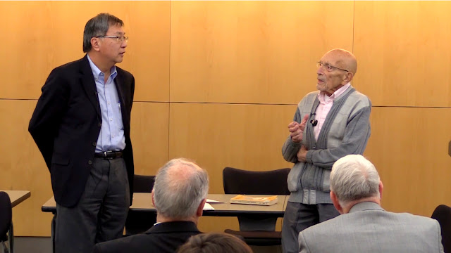 Judge Sen K. Tan (ret.) and Alaska Constitutional Convention delegate Vic Fischer.