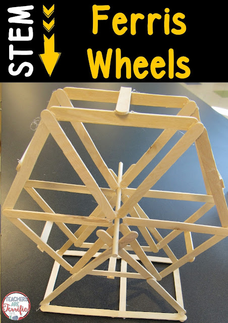STEM Challenge: Build a Ferris Wheel! It needs to be hexagonal and turn on a central axle! Will symmetry play a part in the final design?