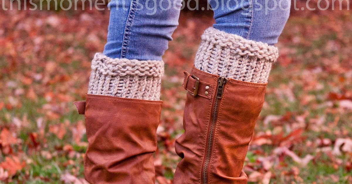 Loom Knitting Boot Cuff Loom Knitting By This Moment Is Good