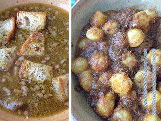 Comida típica da região: sopa de legumes e Gnocchi