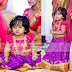 Purple Lehenga Pink Ruffled Blouse