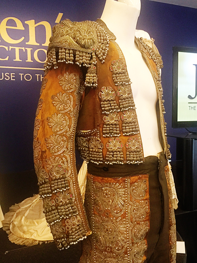 Hollywood Auction Rudolph Valentino suit of lights matador