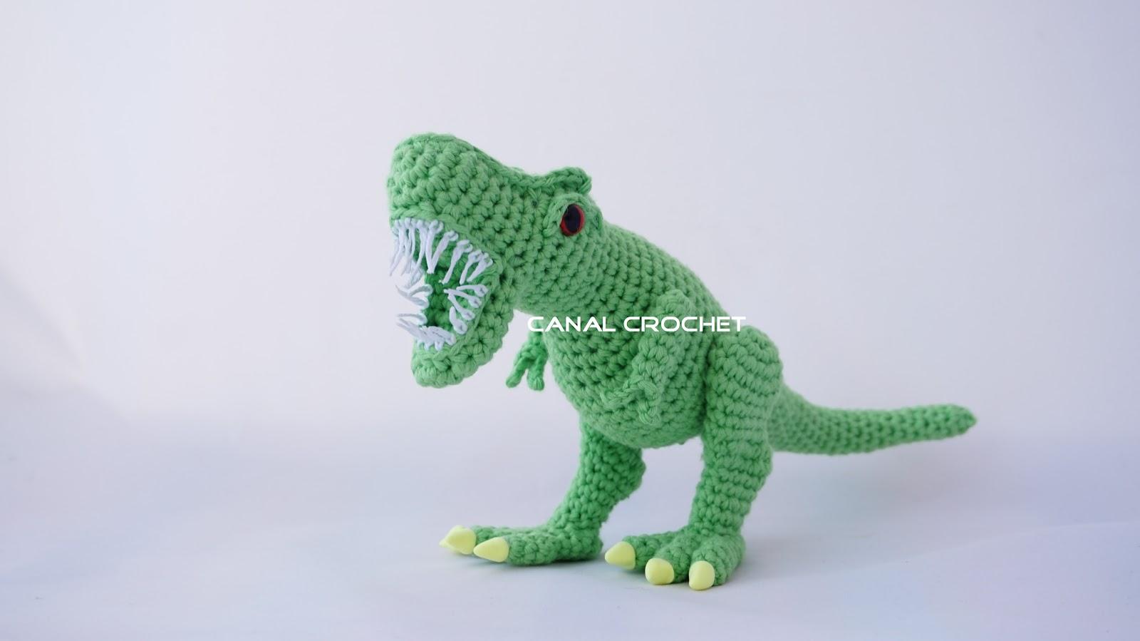Dinosaurios Amigurumis Patrones Gratis : Canal crochet: dinosaurio rex amigurumi tutorial