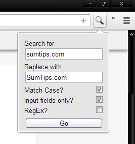 Search and Replace for Chrome