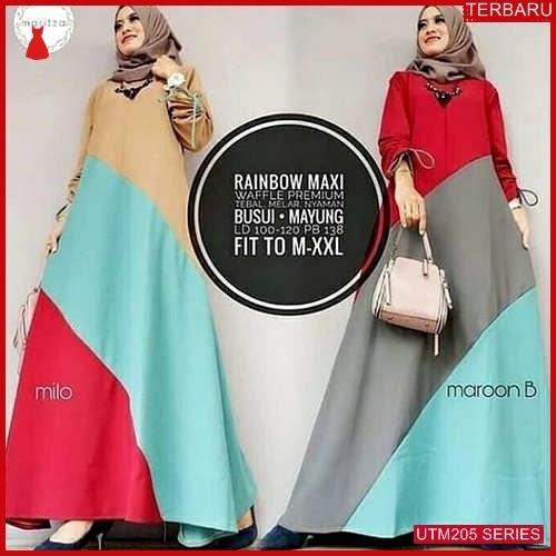 UTM205R65 Baju Rainbow Muslim Maxi UTM205R65 0CD | Terbaru BMGShop