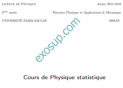 cours physique statistique 1-2 smp s5-s6