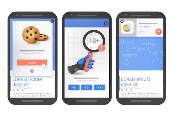 Google penalizará a las páginas con publicidad molesta o excesiva