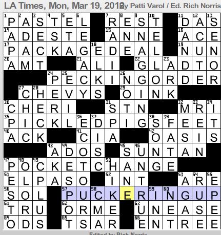 Letter Shaped Fastener Crossword Ideas