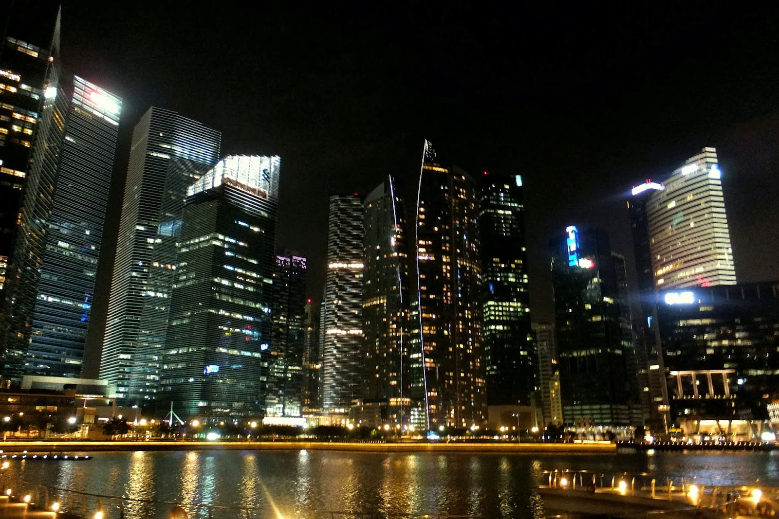 night-view-in-singapore シンガポールの夜景