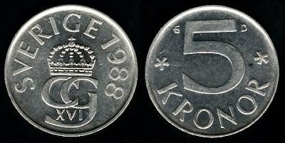 Sweden 5 Kronor (1976-1992)