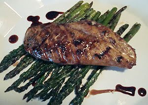 My Hcg Recipes Balsamic Chicken W Grilled Asaparagus