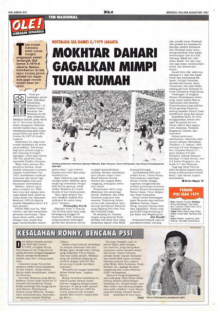 NOSTALGIA SEA GAMES X/1979 JAKARTA