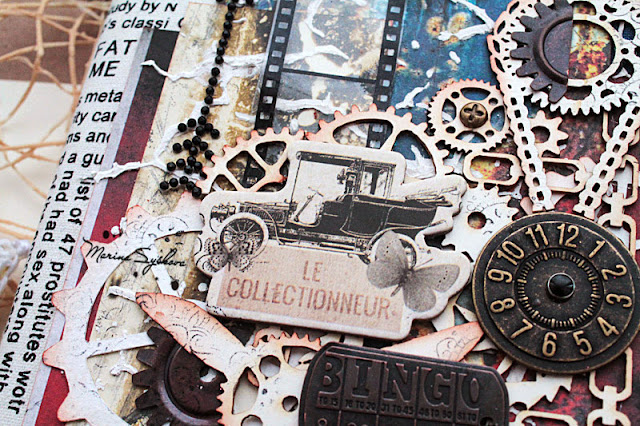 @marinasyskova #notebook #steampunk #scrapbooking  #scrap