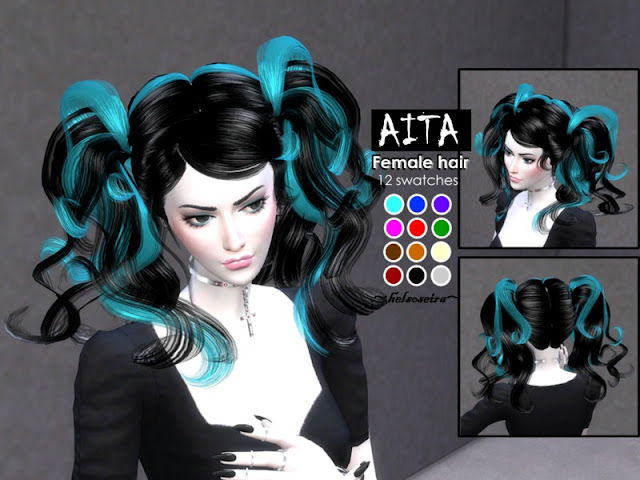 Sims 4 Cc S The Best Aita Female Hairstyle