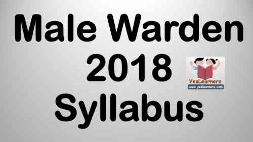 Male Warden - Syllabus | Time Table
