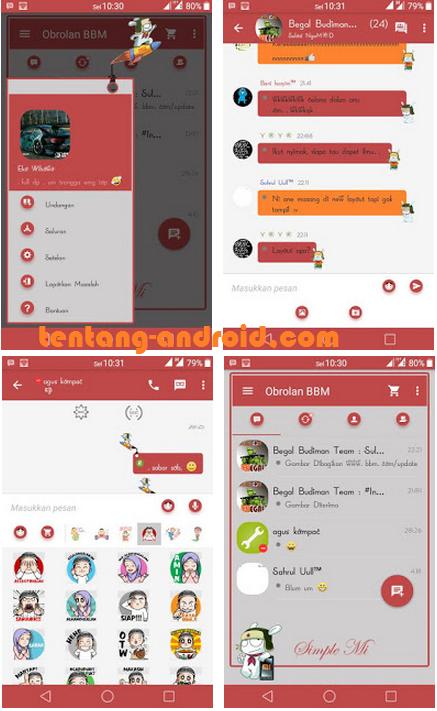 BBM Mod Simple Mi v2.9.0.45 by Eko Wibowo