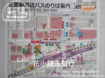背包豬@三宮車站地圖