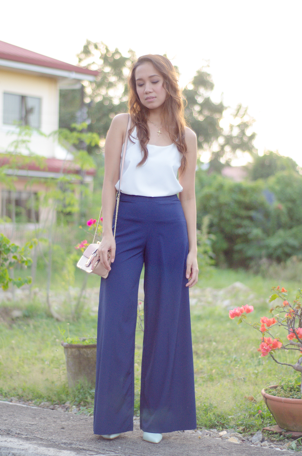 cebu fashion blogger. cebu blogger. cebu lifestyle blogger. outfit. palazzo pants. special occasions outfit. wide leg pants. trousers. toni pino-oca.