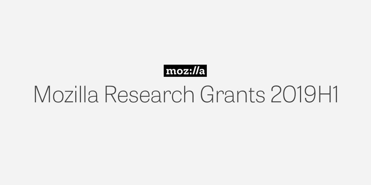 Mozilla's Latest Research Grants Prioritize Research for the