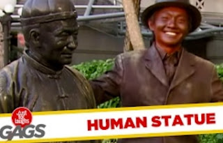 Funny Video – Moving Statue Caught on Tape