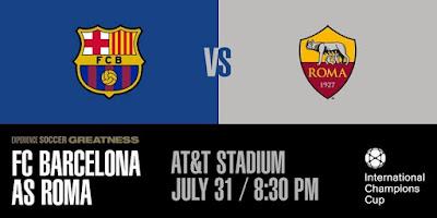 Live Streaming Barcelona vs Roma ICC 1.8.2018