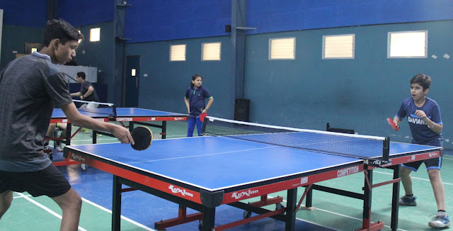 Table Tennis and Football match starts at Hammerton Grammar School