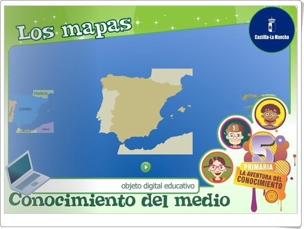 """""""Los mapas"""" (Ciencias Sociales de Primaria)"""