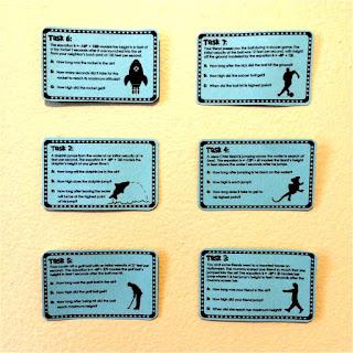 Quadratic word problem task cards
