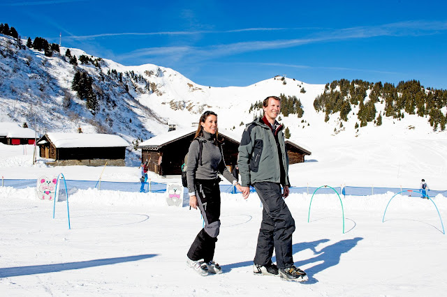 Danish Royal Family on holiday in Villars