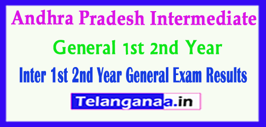 AP Andhra Pradesh Inter 1st 2nd Year General Exam Results 2018
